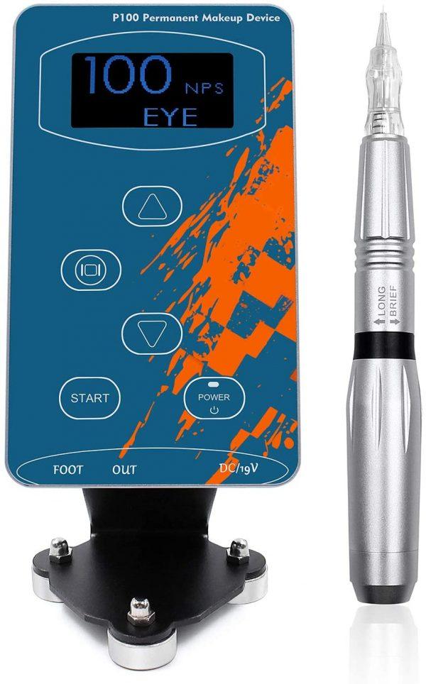 Máquina BIOMASER azul para micropigmentación