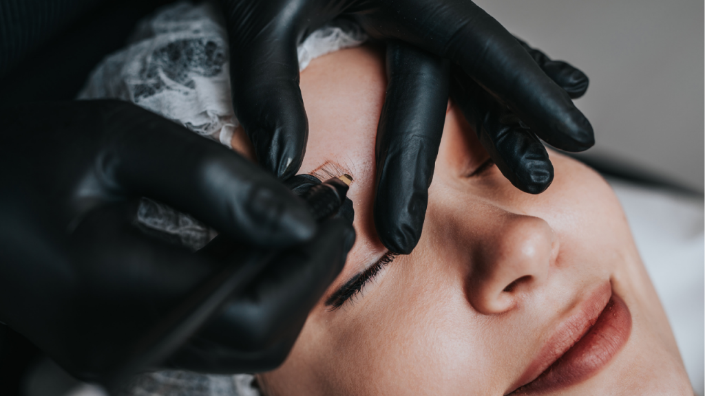 Day by day microblading healing process